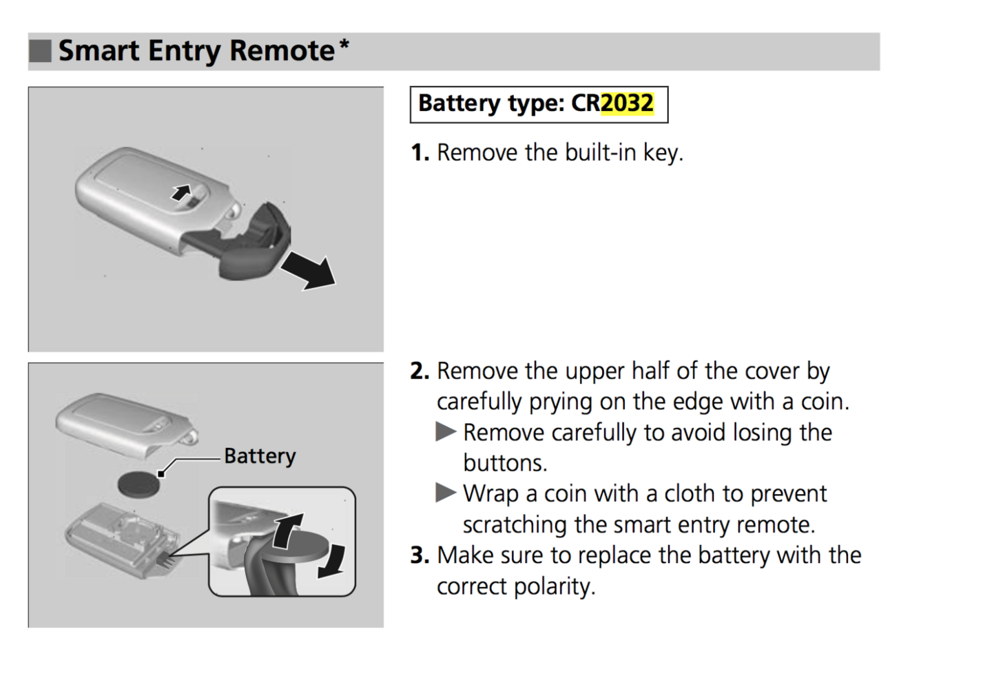 Honda Key Battery Replacement >> Key Fob Battery Honda Hr V Forum